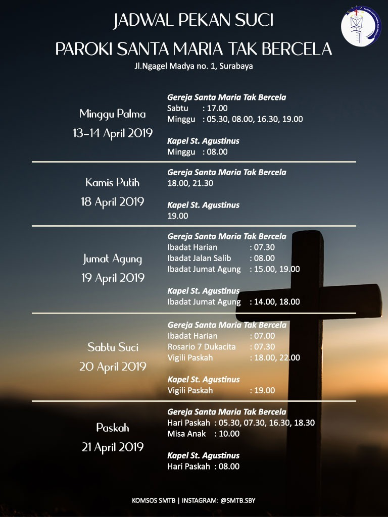 Jadwal Pekan Suci